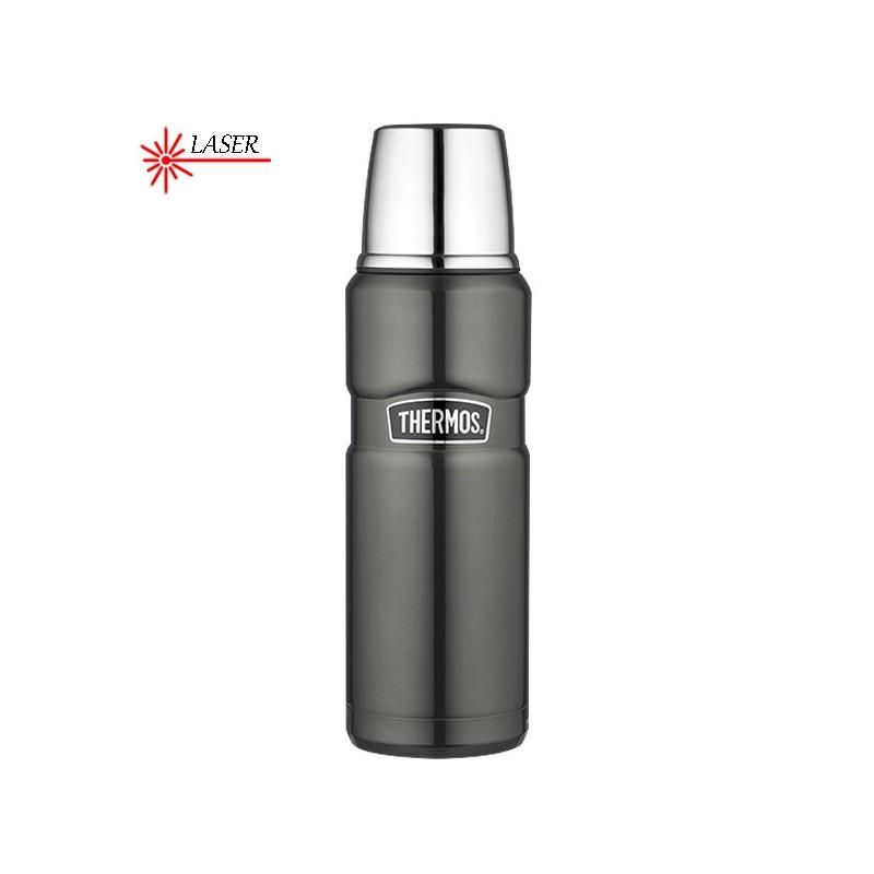 Termos na napoje – metaliczny szary (gunmetal)