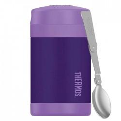 Termos dziecięcy na jedzenie z łyżką – fioletowy