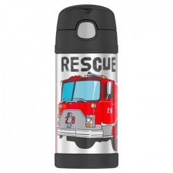 Termos dziecięcy ze słomką – strażacy