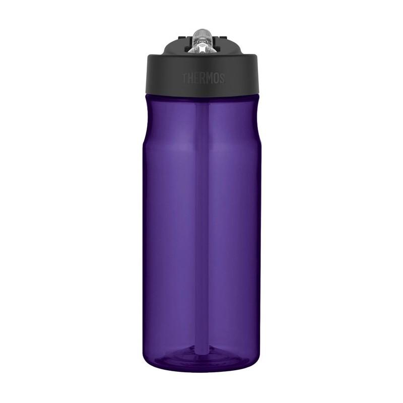 Butelka nawadniająca ze słomką – fioletowa