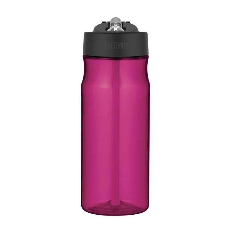 Butelka nawadniająca ze słomką o objętości 530 ml w kolorze purpurowym