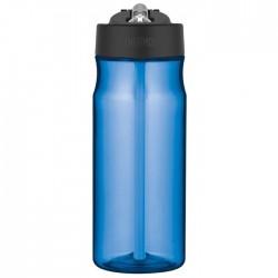 Butelka nawadniająca ze słomką – jasnoniebieska