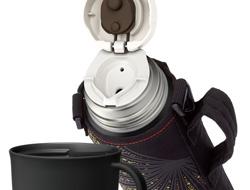 Thermos izolowana próżniowo butelka z kubkiem