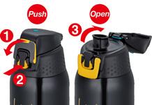Thermos Sport - butelka termiczna dla sportowców - otwieranie